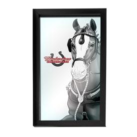 Budweiser Framed Logo Mirror - Clydesdale Black