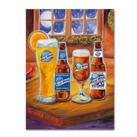 Blue Moon 'Holiday' Canvas Art-1