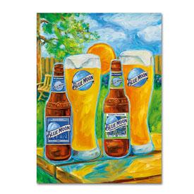 Blue Moon 'Spring' Canvas Art - 4