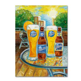 Blue Moon 'Summer' Canvas Art-1