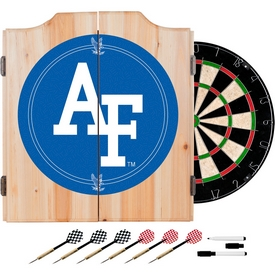 Air Force FalconsT Wood Dart Cabinet Set