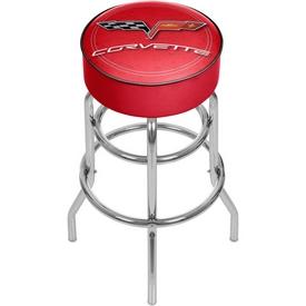 Corvette C6 Padded Bar Stool - Red