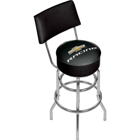 Chevrolet Swivel Bar Stool with Back - Chevy Racing
