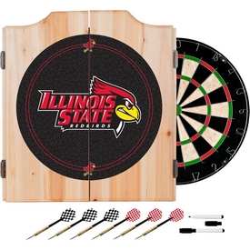 Illinois State University Dart Cabinet with Darts and Board