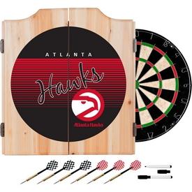 Atlanta Hawks Hardwood Classics NBA Wood Dart Cabinet Set