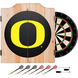 University of Oregon Wood Dart Cabinet Set - Carbon Fiber