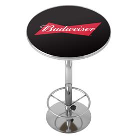 Budweiser Bowtie Red / Black Pub Table