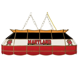 Maryland University Stained Glass 40 Inch Billiard Lamp