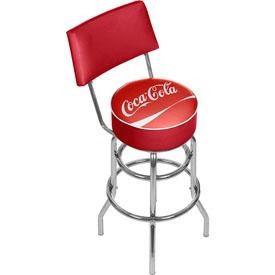 Coca Cola Pub Stool with Back