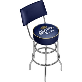 Corona Swivel Bar Stool with Back - Griffin