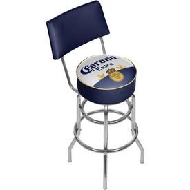 Corona Swivel Padded Swivel Bar Stool with Back - Label Design