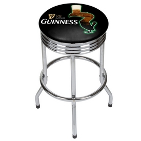Guinness Chrome Ribbed Bar Stool - Feathering