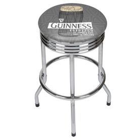 Guinness Chrome Ribbed Bar Stool - Line Art Pint