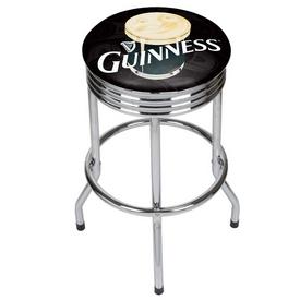 Guinness Chrome Ribbed Bar Stool - Smiling Pint
