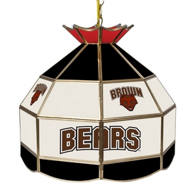 Brown University 16 Inch Stained Glass Lamp