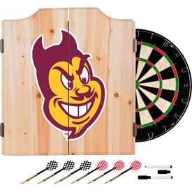 Arizona State University Dart Cabinet with Darts and Board