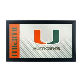 University of Miami Hurricanes Framed Logo Mirror - Text