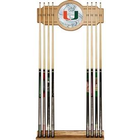 University of Miami Cue Rack with Mirror - Fade