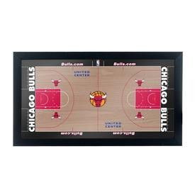 Chicago Bulls Official NBA Court Framed Plaque