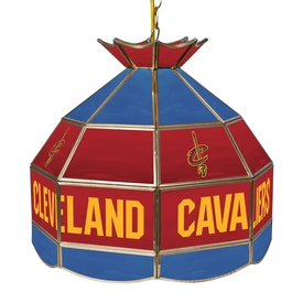 Cleveland Cavaliers NBA 16 Inch Stained Glass Lamp