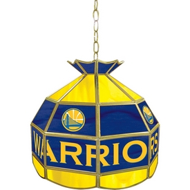 Golden State Warriors NBA 16 Inch Stained Glass Lamp