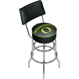 University of Oregon Swivel Bar Stool with Back
