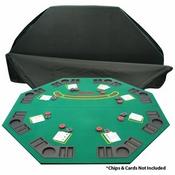 Solid Wood 2 Fold Poker/Blackjack Tabletop - Single sided