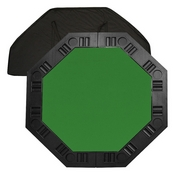 Octagon Table top for 8 Players Green Felt 48 inch