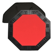 Octagon Table top for 8 Players Red Felt 48 inch