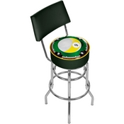 Nine Ball Padded Bar Stool with Back