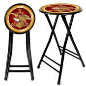 Anheuser Busch A & Eagle 24 Inch Cushioned Stool - Black