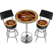 Ultimate A & Eagle Gameroom Combo - 2 Bar Stools and Table-1