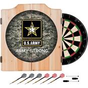 Digital Camo Wood Dart Cabinet SetUS Army Dart Cabinet Set