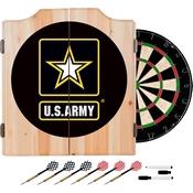 Wood Dart Cabinet SetUS Army Dart Cabinet Set