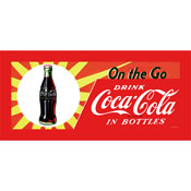 On the Go Coke Ready to Hang Stretched Canvas 12x30 Inch