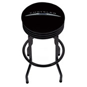 Chrysler Single Ring Ribbed Stool - Black