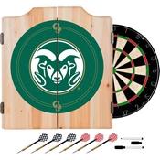 Colorado State Univ. Dart Cabinet - !ncludes Darts and Board