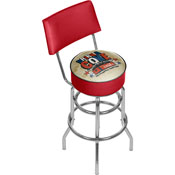Coca Cola Brazil Drink a Coke Pub Stool with Back
