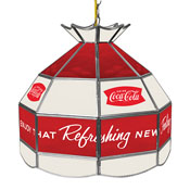 Coca Cola 16 Inch Stained Billiard Lamp - Arc
