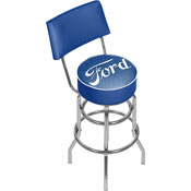 Ford Swivel Bar Stool with Back - Ford Genuine Parts