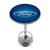 Ford Chrome Pub Table - Ford Oval