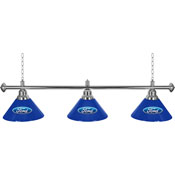 Ford 3 Shade Chrome Billiard Lamp - Ford Oval