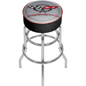 Corvette C5 Padded Bar Stool - Silver - Made In USA