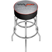 Corvette C6 Padded Bar Stool - Silver - Made In USA