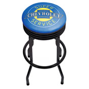 Chevrolet Black Ribbed Bar Stool - Super Service