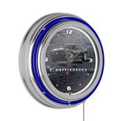 Black Camaro 14 Inch Neon Clock