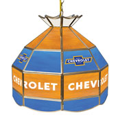 Chevrolet 16 Inch Handmade Stained Glass Lamp - Super Service