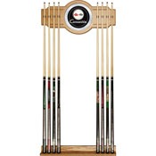 Corvette C1 2 piece Wood and Mirror Wall Cue Rack - Black