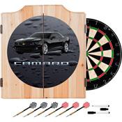 Black Camaro Dart Cabinet Includes Darts and Board