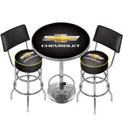 Chevrolet Game Room Combo - 2 Stools w/Back & Table